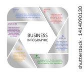 business infographics  hexagon... | Shutterstock .eps vector #1414090130