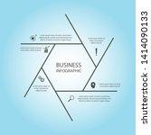 business infographics  hexagon... | Shutterstock .eps vector #1414090133