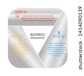 business infographics  triangle ... | Shutterstock .eps vector #1414090139