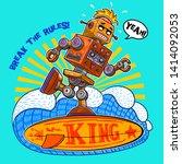 retro vector toy robot... | Shutterstock .eps vector #1414092053