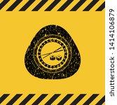 sushi icon grunge warning sign... | Shutterstock .eps vector #1414106879