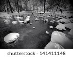 A Snow Covered Little Creek An...