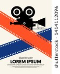 movie and film poster modern...   Shutterstock .eps vector #1414112096
