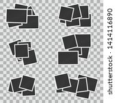 set of square vector photo... | Shutterstock .eps vector #1414116890