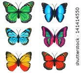 Stock photo  butterfly invents on white background 141414550