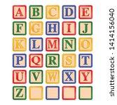 uppercase letters children's... | Shutterstock .eps vector #1414156040