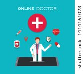 online health care vector...