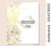 invitation greeting card with... | Shutterstock .eps vector #1414178333