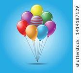 colorful balloon vector...   Shutterstock .eps vector #1414187129