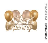 grand opening label with helium ... | Shutterstock .eps vector #1414192913