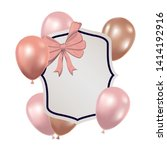 frame with helium balloons on... | Shutterstock .eps vector #1414192916