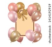 frame with helium balloons on... | Shutterstock .eps vector #1414192919