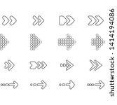 arrow icon vector set   vector | Shutterstock .eps vector #1414194086