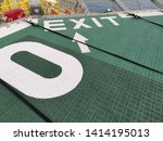 Exit Sign On Offshore Heli Deck ...