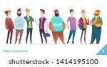 people character design... | Shutterstock .eps vector #1414195100