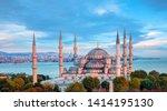 the sultanahmet mosque  blue... | Shutterstock . vector #1414195130