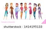 women character design...   Shutterstock .eps vector #1414195133