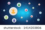 network connection abstract... | Shutterstock .eps vector #1414203806