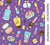 seamless pattern with cute... | Shutterstock .eps vector #1414205696