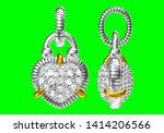 beautifu pendant isolated on...   Shutterstock . vector #1414206566