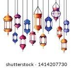 ramadan kareem lantern hanging... | Shutterstock .eps vector #1414207730