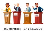 character ceo talking from... | Shutterstock .eps vector #1414213106
