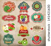 collection of vintage retro... | Shutterstock .eps vector #141421630