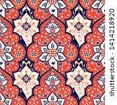 indian paisley pattern vector...   Shutterstock .eps vector #1414218920