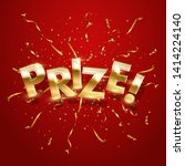 prize  award win vector 3d word ... | Shutterstock .eps vector #1414224140