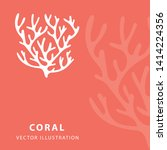 coral. hand drawn coral vector... | Shutterstock .eps vector #1414224356