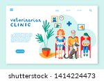 veterinarian clinic landing...   Shutterstock .eps vector #1414224473
