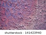 Rough Purple Concrete Wall...