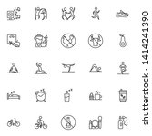 healthy lifestyle line icons... | Shutterstock .eps vector #1414241390