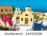 greece santorini island in... | Shutterstock . vector #141424330