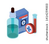 laboratory instruments with... | Shutterstock .eps vector #1414259003