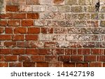 old red ceramic bricks texture  ... | Shutterstock . vector #141427198