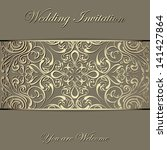 royal vintage invitation  gift... | Shutterstock .eps vector #141427864