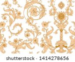 seamless pattern  background in ... | Shutterstock .eps vector #1414278656