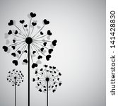 background with dandelion and...   Shutterstock .eps vector #141428830