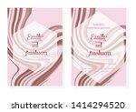 wedding invitation card ... | Shutterstock .eps vector #1414294520