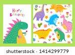 seamless pattern of happy... | Shutterstock .eps vector #1414299779