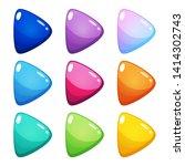 set of nine colorful play icons ...
