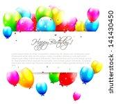 Birthday Balloons On Isolated...