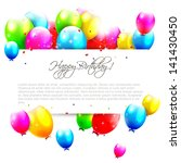 birthday balloons on isolated... | Shutterstock .eps vector #141430450