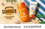 sunscreen ads on beautiful... | Shutterstock .eps vector #1414309949