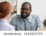 two multiracial business... | Shutterstock . vector #1414311719