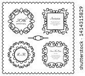 set of ornate frames with... | Shutterstock .eps vector #1414315829