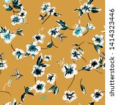 flowers seamless pattern.  ... | Shutterstock .eps vector #1414323446
