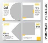 set of modern trendy covers... | Shutterstock .eps vector #1414331609