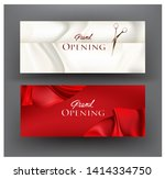 grand opening invitation cards...   Shutterstock .eps vector #1414334750